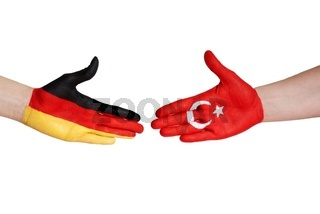 a handshake between turkey and germany