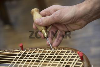 basket weaving in a sheltered workshop