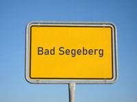 place name sign Bad Segeberg
