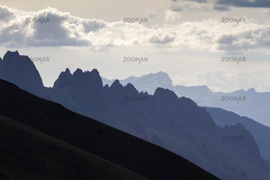 Mountain landscape in Ladakh, North India