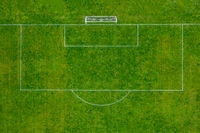 Soccer Field Penalty Area Aerial View