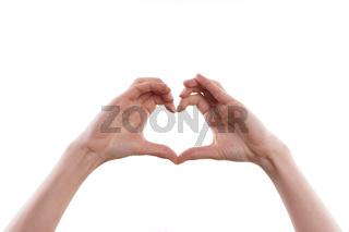 Finger formen Herz