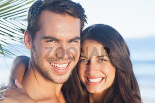 Cheerful loving couple having holidays