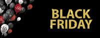 Golden Black Friday Balloons Percents Header