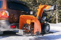 Mechanical snowplough ready for work