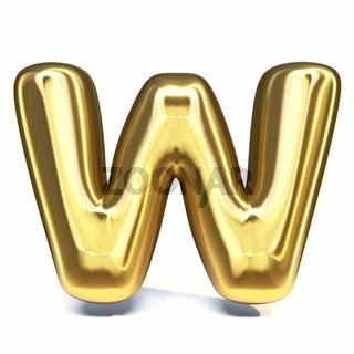 Golden font Letter W 3D