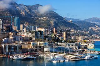 Monaco Monte Carlo Coastal Cityscape