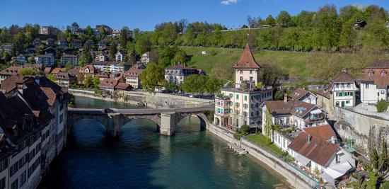 River Aar and Untertorbrucke in Bern, Switzerland
