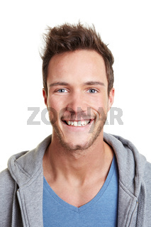 Junger lachender Mann