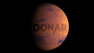 Planet Mars with shine, computer generated. 3d rendering of realistic cosmic background. Elements of this image are presented by NASA