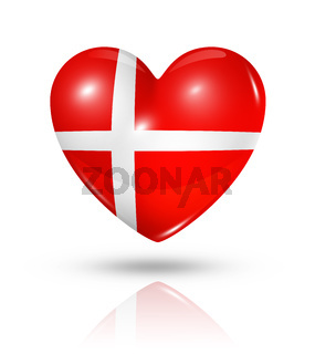 Love Denmark, heart flag icon