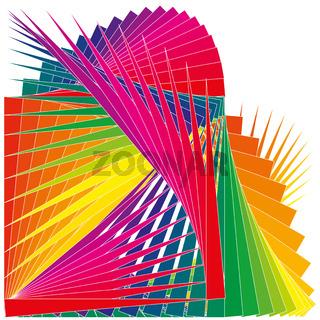 Muster Farben Schnipsel als Fächer