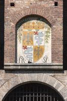 Coat of arms of the Visconti family close up
