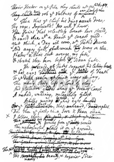 Historical manuscript, translation of Homer by Alexander Pope, 1