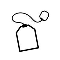 Teabag simple black icon on white