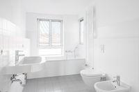 white bathroom - modern bath bathtub ,