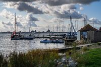 The harbour in Altefaehr, Mecklenburg-Western Pomerania, Germany