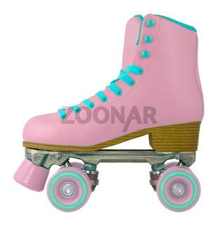 Pink Retro Roller Skate