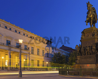 Berlin - Old Palace at Night with Frederick Monument
