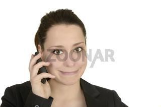 Business Frau telefoniert mit Smartphone