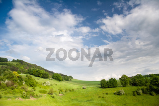 Thüringer Landschaft bei der Leuchtenburg