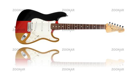 electric guitar, german flag