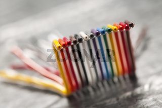 A piece of ribbon cable macro