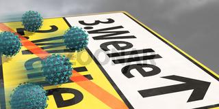 Corona-Pandemie Dritte Welle