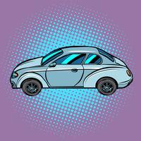 A passenger car on a pop art background. Automobile transport, automobile. Auto