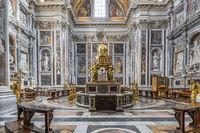 Cappella Sistina in the Basilica of Santa Maria Maggiore in Rome in Italy