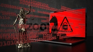 Lady Justice Statue Hacking Attack
