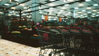 covid-19 epidemic and empty supermarket