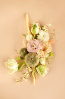 Natural composition of fresh flowers