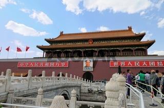 Eingang zur verbotenen Stadt-Peking
