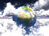 earth in the clouds