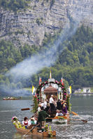 Sea procession to Corpus Christi in Hallstatt