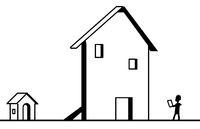 Façade Fake House Line Cartoon
