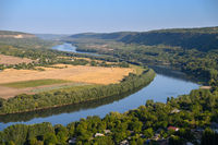 View to Dniester river from the top hill of Socola village, Moldova