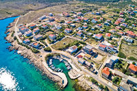 Razanac. Historic town of Razanac beach and waterfront aerial view