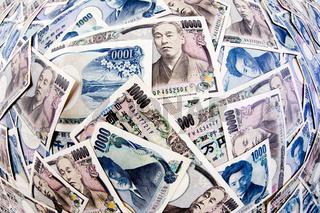 Yen Geldscheine der japanischen Währung