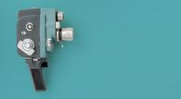 Vintage 8mm camera with 8mm reel.