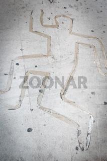 Dead body silhouette