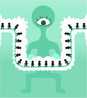 Surveillance Conveyor Cartoon