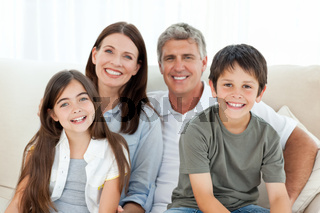 Portrait of a smiling family