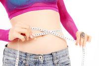 Woman body measure on white