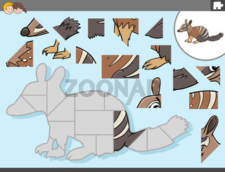 jigsaw puzzle game with numbat animal character