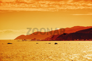 Cook Strait New Zealand sunset