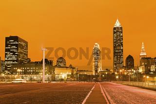 Cleveland after sunset