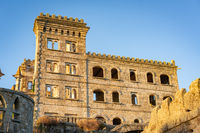 Abandoned ruin building of Termas Radium Hotel Serra da Pena in Sortelha, Portugal