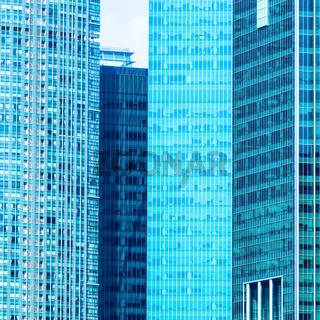 Urban buildings skyscrapers background
